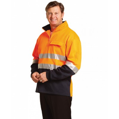 Picture of Hi-Vis Two Tone Cotton Fleecy Sweat 3M R
