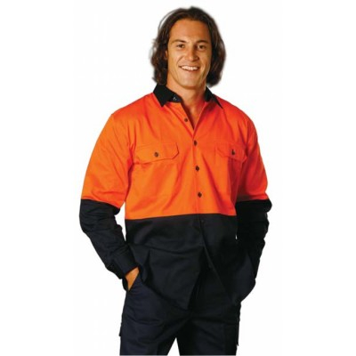 Picture of High Visibility Long Sleeve Work Shirt