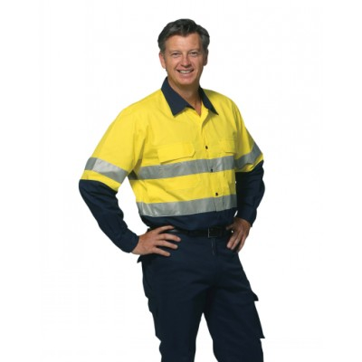 Picture of Mens High Visibility Cotton Rip-Stop Saf