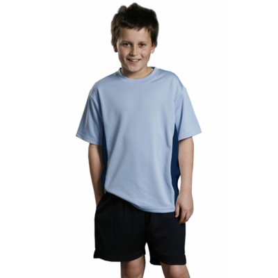 Picture of (Kids Unisex) CoolDry Mesh Contrast Tee