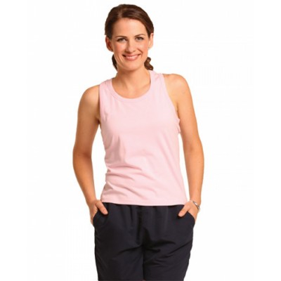 Picture of Ladies Cotton Stretch Fitted Singlet