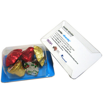 Picture of Biz Card Treats With Christmas Chocolate