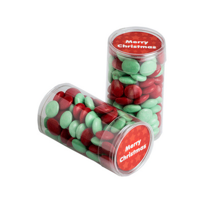 Picture of Pet Tube Filled With Christmas Choc Bean