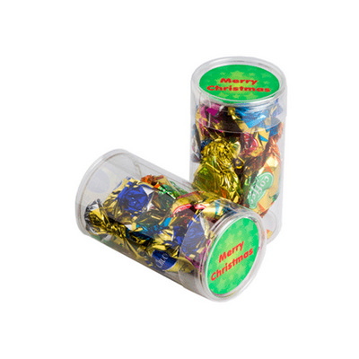 Picture of Pet Tube Filled With Christmas Mixed Ecl