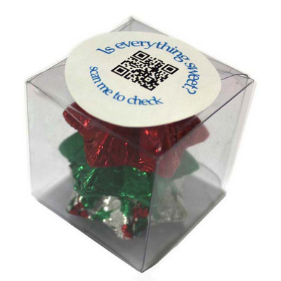 Picture of Cube Filled with Christmas Chocolates 30GCube filled with Christmas Chocolates 30