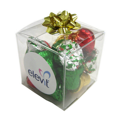 Picture of Cube Filled with Christmas Chocolates 60GCube filled with Christmas Chocolates 60