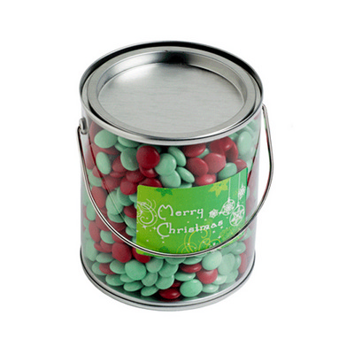 Picture of Big PVC Bucket Filled With Christmas Cho