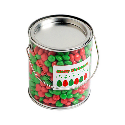 Picture of Big PVC Bucket Filled With Christmas Che