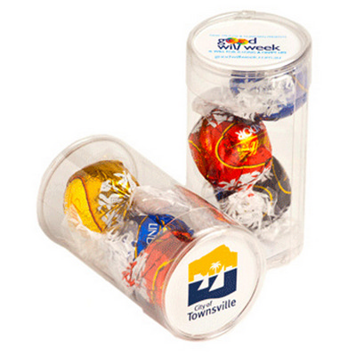 Picture of Pet Tube Filled with Lindor Balls X 3