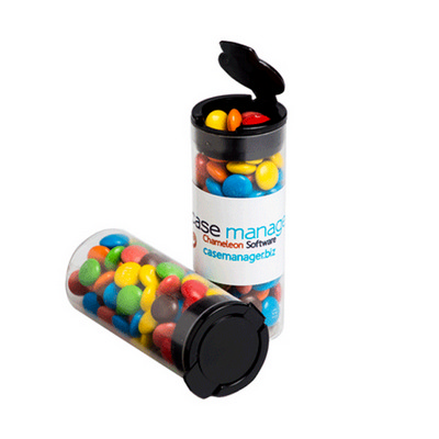 Picture of Flip Lid Tube Filled with M&Ms 35G