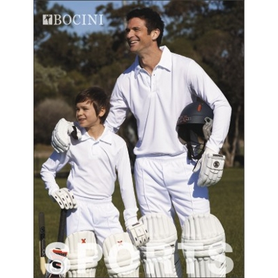 Picture of Unisex Adults Long Sleeve Cricket Polo