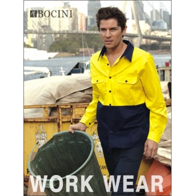 Picture of Unisex Adults Hi-Vis Cotton Twill Shirt