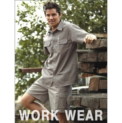 Picture of Unisex Adults Cotton Drill Work Shirt S/SCotton Drill Work Shirts