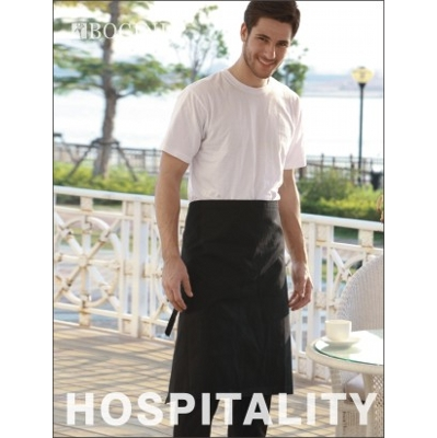 Picture of Polyester Drill Three Quarter Apron -Wit