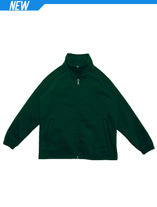 Picture of Kids Poly/Cotton Fleece Zip Through Jack
