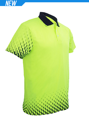 Picture of Unisex Adults Hi-Vis Gradient Polo
