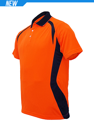 Picture of Unisex Adults Hi-Vis Panel Polo