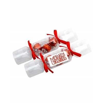 Picture of Clear Christmas Crackers with 3 X Lindor