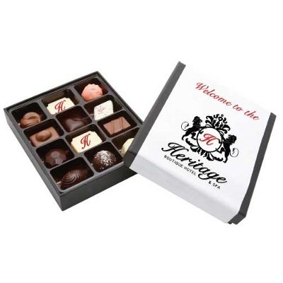 Picture of 12Pc Belgian Chocolate Black Gift Box