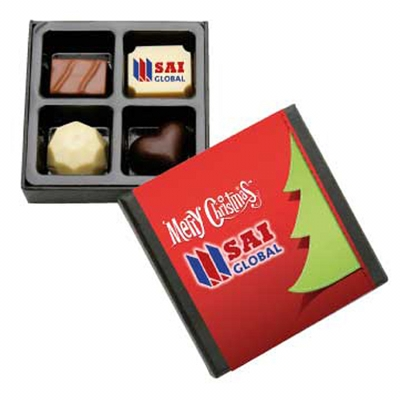 Picture of 4Pc Belgian Chocolate Black Gift Box