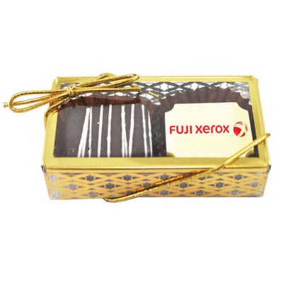 Picture of 2pc Belgian Chocolate Truffle Box - GOLD