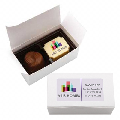 Picture of 2pc Belgian Chocolate Gift Box -White