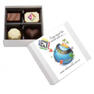 Picture of 4Pc Belgian Chocolate White Gift Box
