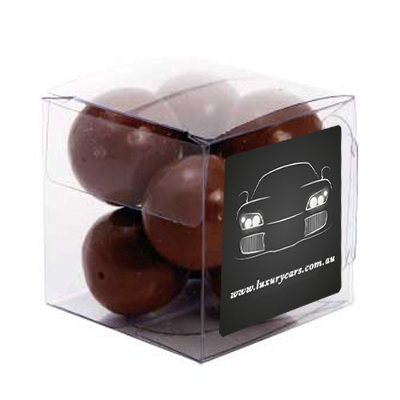 Picture of Small Clear Cube with Malt Balls