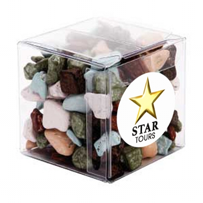 Picture of Big  Clear Cube with Chocolate Rocks