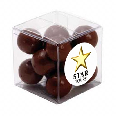 Picture of Big Clear Cube with Malt Balls