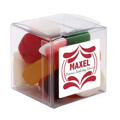 Picture of Big  Clear Cube with Mixed Lollies