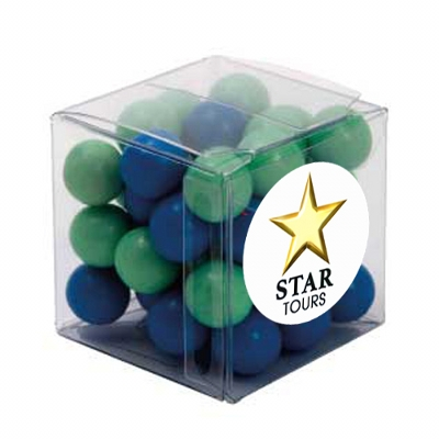 Picture of Big Clear Cube with Chocolate Balls (Co