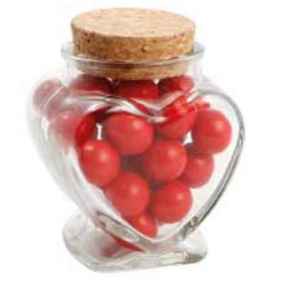 Picture of Glass Heart Jar with Choc Red Balls_Jaff