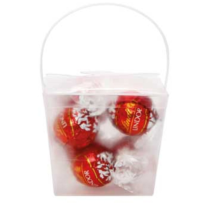 Picture of Clear Noodle Box with Lindor Balls