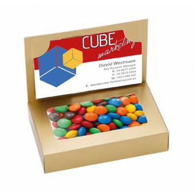 Picture of Business Card Box with M&M's