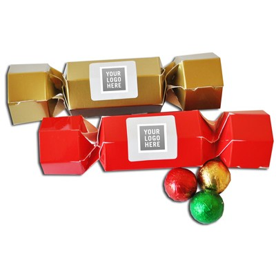 Picture of Coloured Christmas Crackers with Lindor