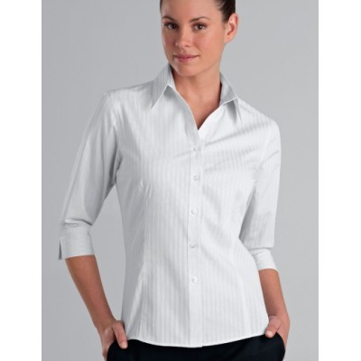 Picture of Self-Pattern Check Womens Business Shirt