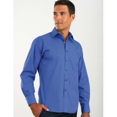 Picture of Tonal Stripe Mens Business Shirt
