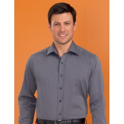 Picture of Shadow Stripe Men's Stretch Slim Fit Bus