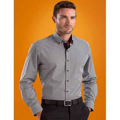 Picture of Dobby Check Mens Stretch Slim Fit Busine