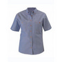 Womens Chambray Shirt -  Short Sleeve