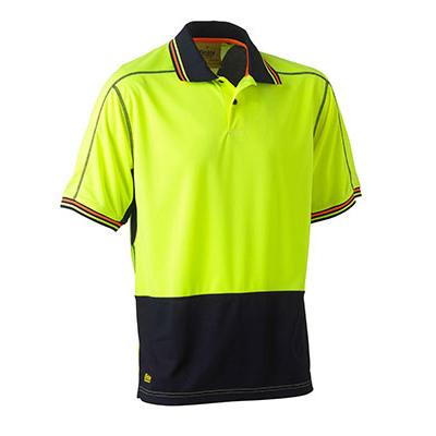 Picture of Two Tone Hi Vis Polyester Mesh Short Sle