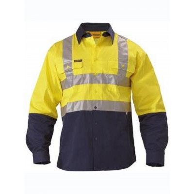 Picture of 3M Taped Two Tone Hi Vis Drill Shirt - L