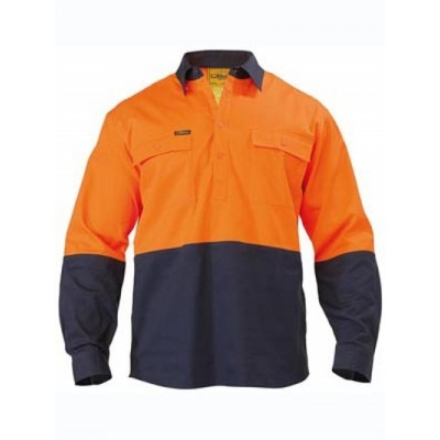 Picture of Two Tone Closed Front Drill Shirt - Long