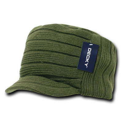 Picture of Knitted Flat Top Cap w/ Visor