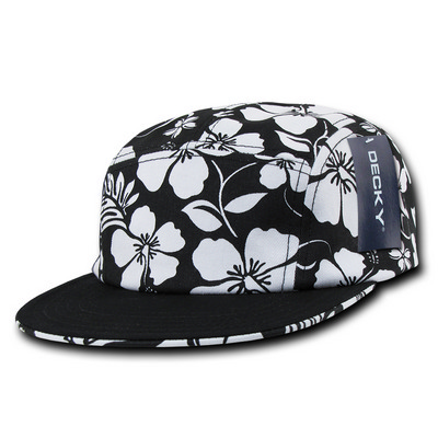 Picture of Solid Bill 5 Panel Floral Racer Cap