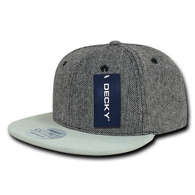Picture of Salt and Pepper Snapback with Suede Bill
