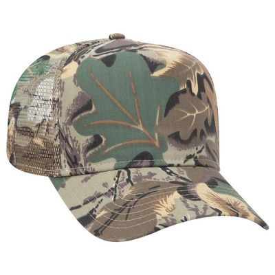 Picture of Five Panel Low Crown Mesh Back Cap