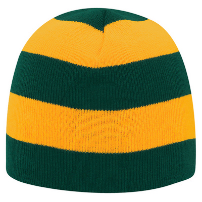 "Picture of 8 1/2"" Striped Beanie"