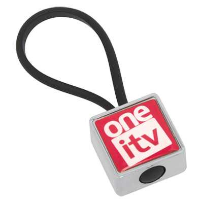 Picture of Globus Keyring Metal Square - Indent